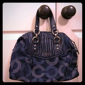 Navy coach purse - like new